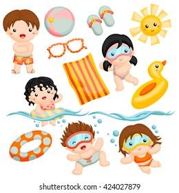 Swim time with friends