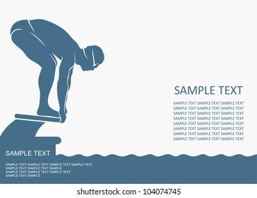 Swimmer background - vector illustration