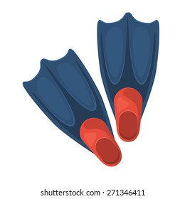 Swimming flippers. Isolated icon pictogram. Eps 10 vector illustration.