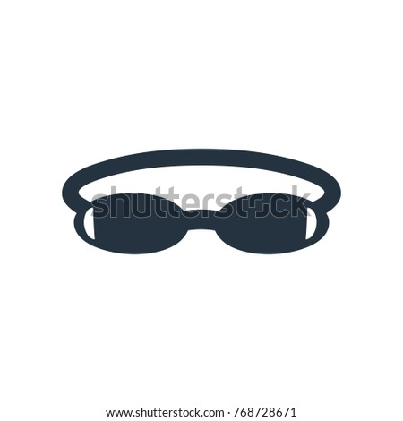 a318ba0a4edf Swimming Glasses Icon On White Background Stock Vector (Royalty Free ...