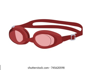 Swimming glasses realistic vector illustration isolated