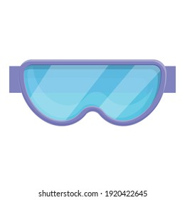 Swimming goggles icon. Cartoon of swimming goggles vector icon for web design isolated on white background