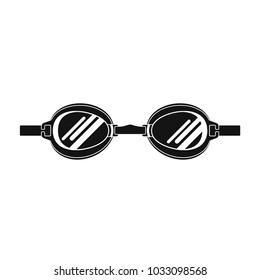 Swimming goggles isolated on white background. Flat styled vector illustration.