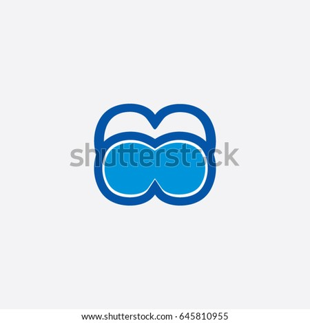68965c7fa487 Swimming Goggles Logo Icon Sport Stock Vector (Royalty Free ...