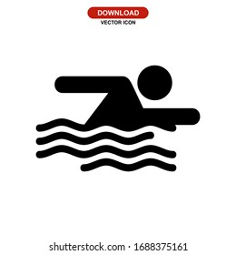 swimming icon or logo isolated sign symbol vector illustration - high quality black style vector icons