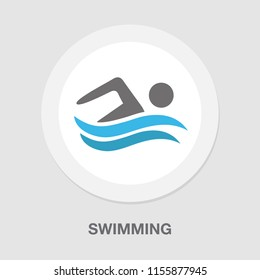 swimming icon, vector swimming pool, water swim sport