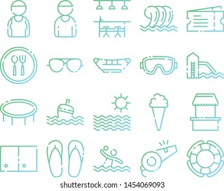 Swimming icons pack. Isolated swimming symbols collection. Graphic icons element