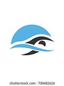 swimming, logo, icon, vector