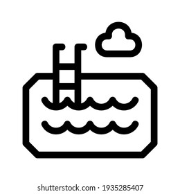 swimming pool icon or logo isolated sign symbol vector illustration - high quality black style vector icons
