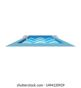 swimming pool  icon logo vector illustration design template