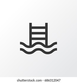 Swimming Pool Icon Symbol. Premium Quality Isolated Ladder Element In Trendy Style.