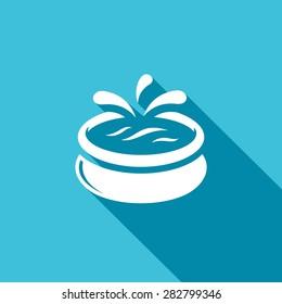 Swimming pool icon. Vector Illustration.