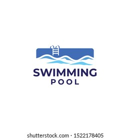 Swimming Pool Logo Design Vector