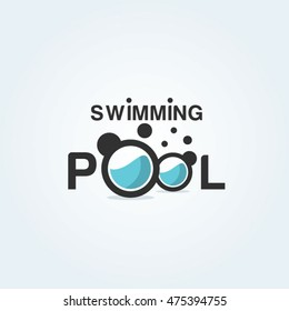 Swimming pool logo, Swim club, Swimming training academy