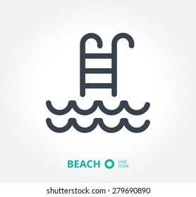a swimming pool vector icon