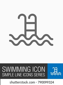 Swimming pool vector icon
