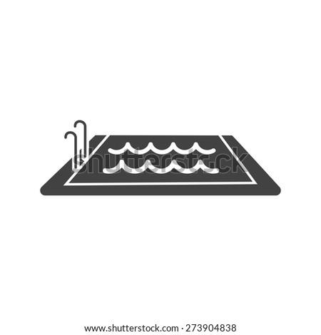 Swimming Pool Water Swim Icon Vector Stock Vector (Royalty Free ...