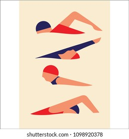swimming position vector