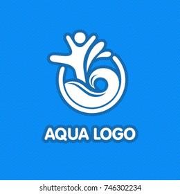 Swimming sport logo.
