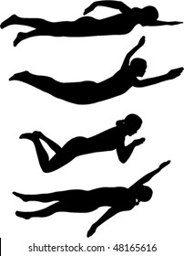 swimming styles - vector
