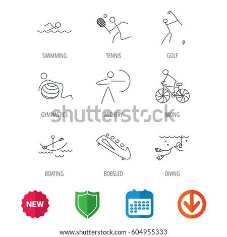 free vector download golf icons