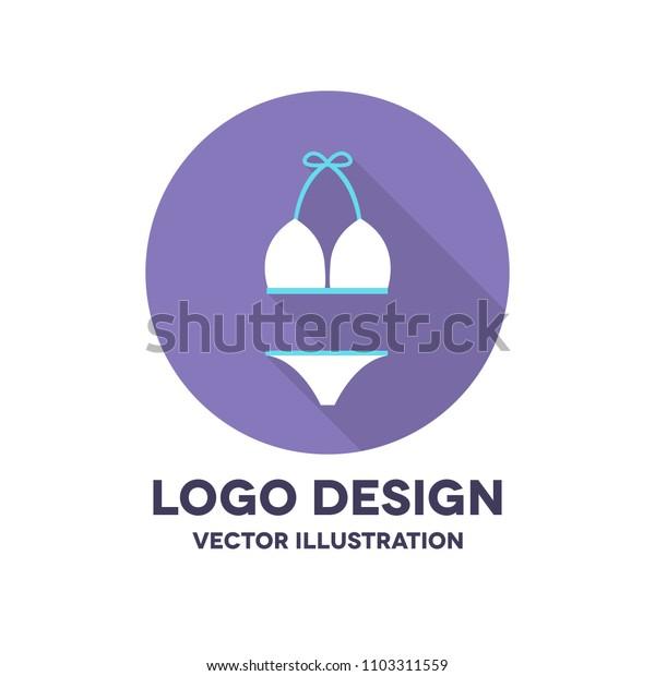 swimsuit vector icon