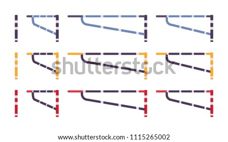 Swing Arm Gate Barrier Set Fence Stock Vector (Royalty Free