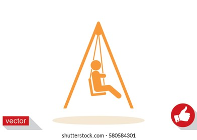 swing child icon vector illustration eps10.