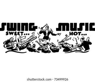 Swing Music - Retro Ad Art Banner