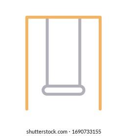 swing vector color line icon