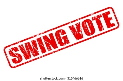 Swing Vote red stamp text on white