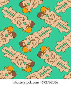 Swinger party seamless pattern. guy and girl sex ornament. Lovers kiss and hug. Gentle passion. Hugs sexy couple background