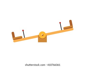 Swings, Seesaws and high slides tube set vector, isolated on white background. Children playground elements illustration.