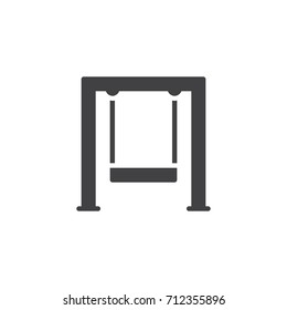 Swingset icon vector, filled flat sign, solid pictogram isolated on white. Symbol, logo illustration