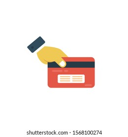 swipe card vector flat colour icon