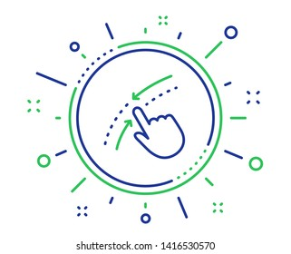 Swipe up down line icon. Move finger sign. Touch technology symbol. Quality design elements. Technology swipe up button. Editable stroke. Vector