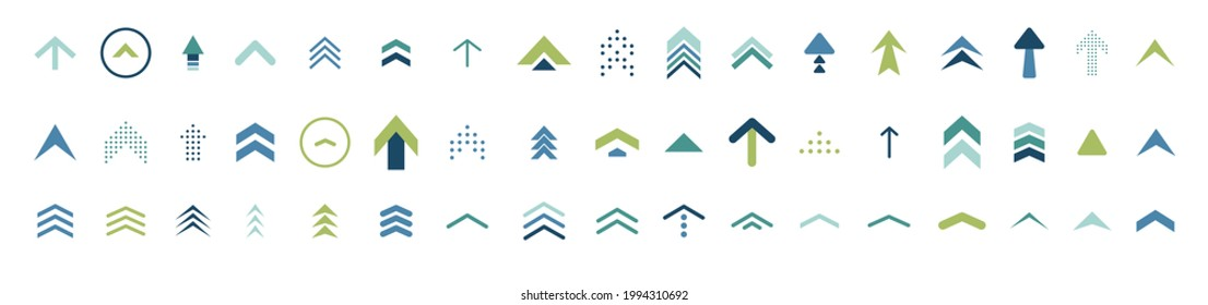 swipe up icon set. isolated arrows vector illustration. move up logo