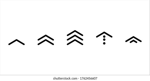 swipe up icon vector button. scroll arrow pointing up. drag to read learn more. isolated on white background. internet graphic concept. modern shape line.