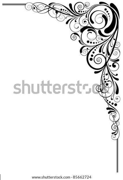 Swirl black angle design