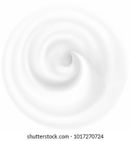Swirl Cream Texture. Creamy twisted background. Milk whirlpool. Applicable for dairy or cosmetic products ads or packaging design. Vector illustration.