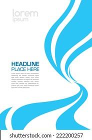Swirl design layout template/ Brochure design/ Water splashes vector art
