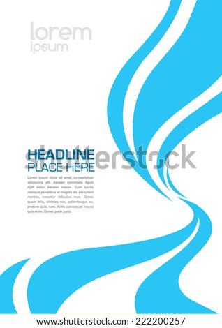 swirl design layout template brochure design stock vector royalty
