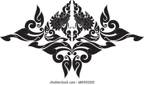 Traditional Tattoo Line Drawing : Tough luck giclee print nautical horseshoe tattoo
