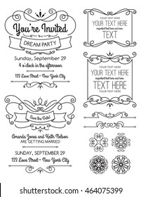 Swirl Invitations and Elements