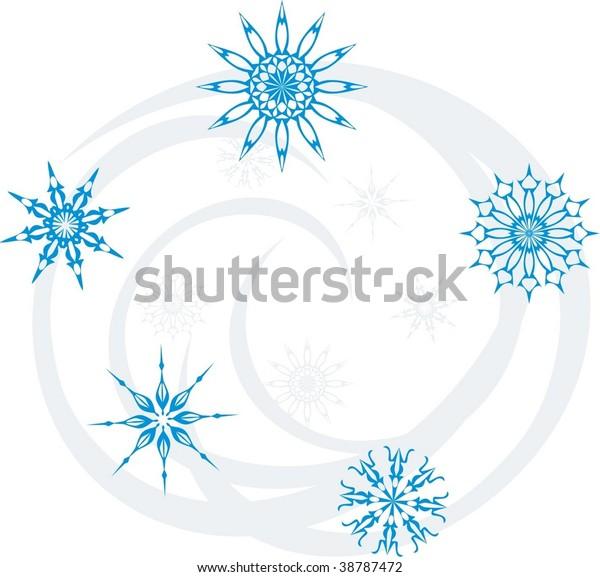 swirl-snowflakes-vector-600w-38787472.jp