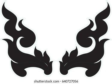 Swirl tribal art vector format, Southeast Asia art style