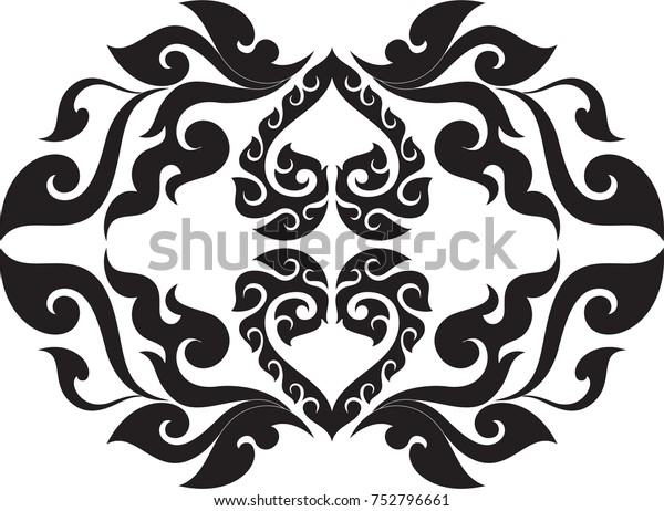 479eb25b1 Swirl Tribal Doodle Heart with Wings Traditional Thai and Laos Artwork,  Designed Concept for Artwork
