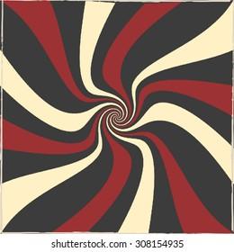 Swirl tricolor retro background