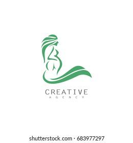 swirl womens pregnant logo