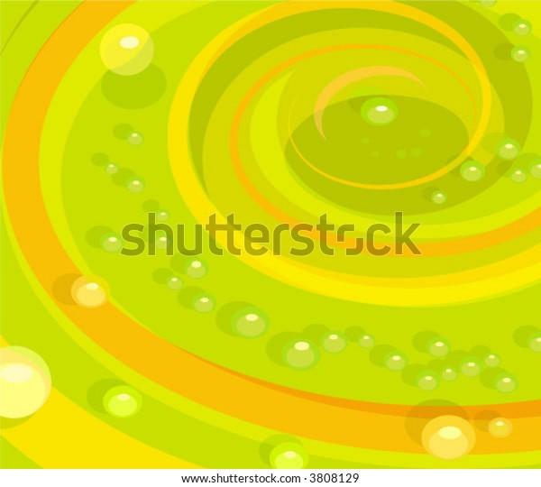 swirling bubbling liquid